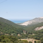 Aussicht auf  das Meer und San Vincenzo